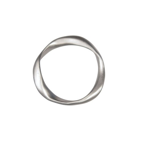 20mm Irregular Ring Pendant / Link - Antique Silver
