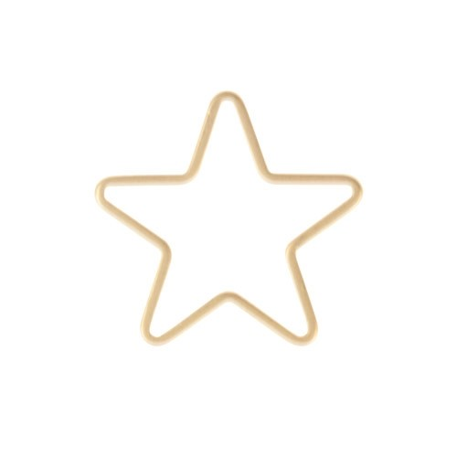 14mm Star Pendant / Link - Satin Hamilton Gold