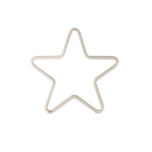 14mm Star Pendant / Link - Antique Silver