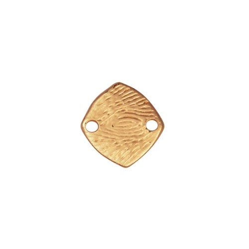13mm Square Pendant / Link - Satin Hamilton Gold
