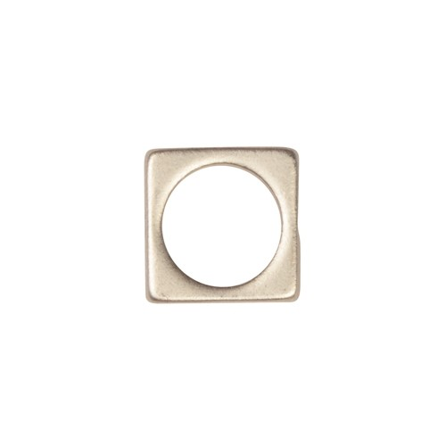 8.5mm Square Bead Frame / Pendant - Antique Silver