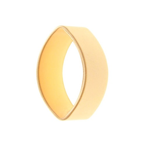 20mm Oval Channel Pendant / Link - Satin Hamilton Gold