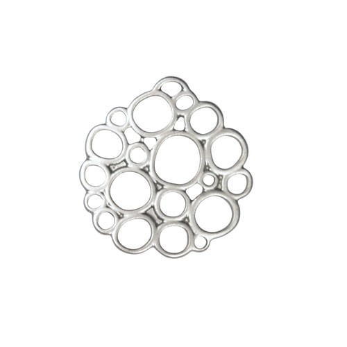 20mm Bubble Pendant / Link - Antique Silver