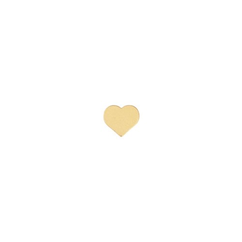 7mm Tiny Heart Bead - Satin Hamilton Gold
