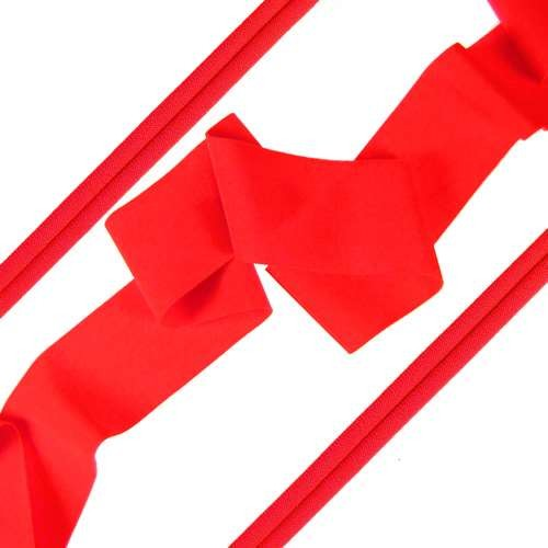 Lycra Ribbon - Bright Coral - per foot