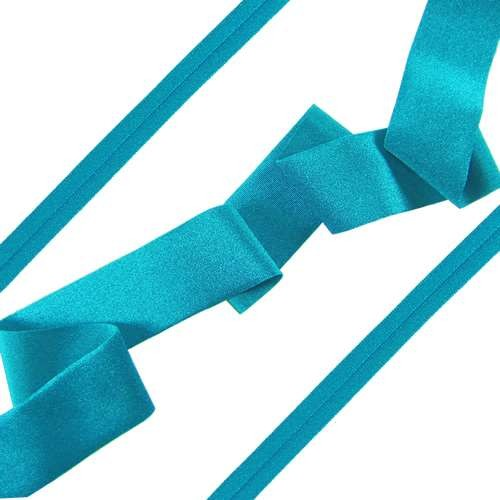 Lycra Ribbon - Brilliant Turquoise - per foot