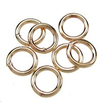 Soldered Ring 6mm 18g (40) - Gold