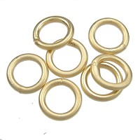 Soldered Ring 6mm 18g (40) - Matte Gold