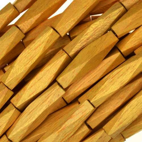 Jackfruit (Nangka) Wood Bead Diamond Shape 5x20mm - strand