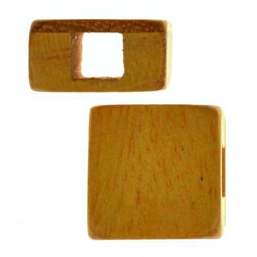 Jackfruit Wood Slide Large Hole Square 15mm - piece