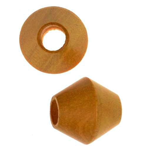 Jackfruit Wood Slide Large Hole Bicone 14mm - piece
