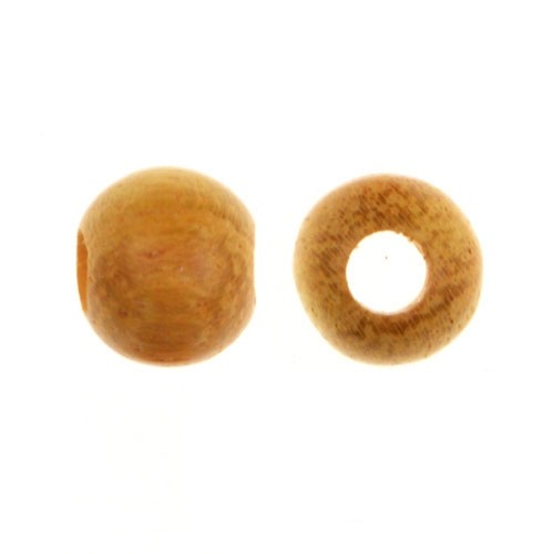 Jackfruit Wood Bead Round 8mm Large Hole (10) - bag