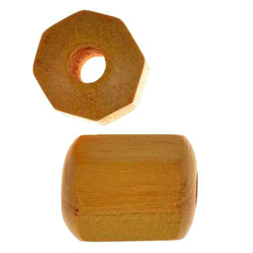 Jackfruit Wood Slide Large Hole Tube Six-Sided 20x15mm