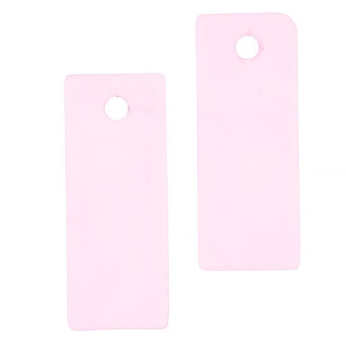 Cultured Sea Glass Bottle-Curved Rectangle Thin (2) - Blossom Pink