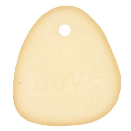 Cultured Sea Glass Pendant Inspiration Love - Lemon