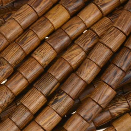 Robles Wood Bead Tube 6x6mm - strand