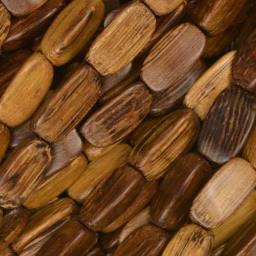 Robles Wood Bead 3 Sided Oval 5x12mm - strand