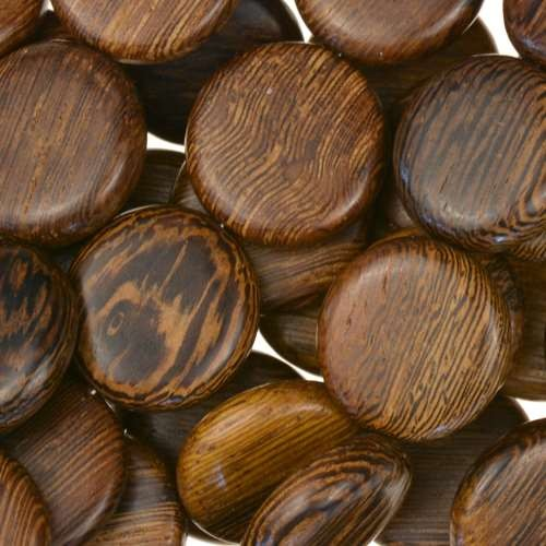 Robles Wood Bead Coin 15mm - strand