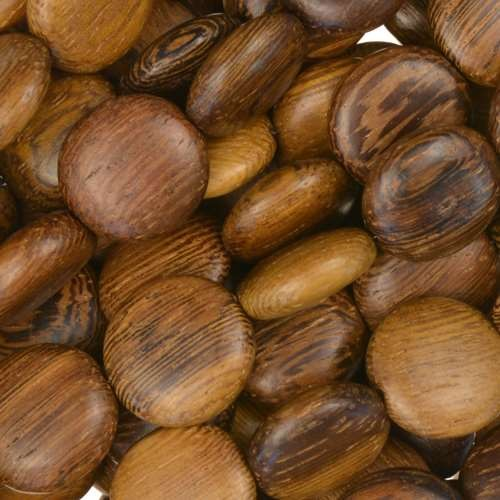Robles Wood Bead Coin 12x5mm