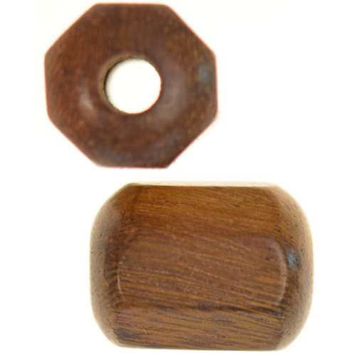 Robles Wood Slide Large Hole Tube Six-Sided 20x15mm