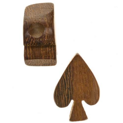 Robles Wood Slide Large Hole Spade 11x16mm - piece