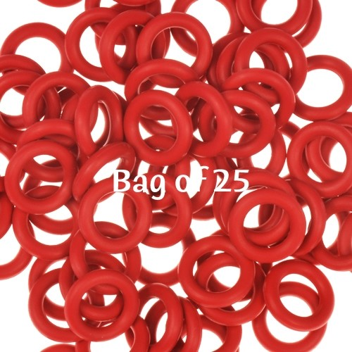 10mm Rubber O-Rings BAG of 25 - Dark Red