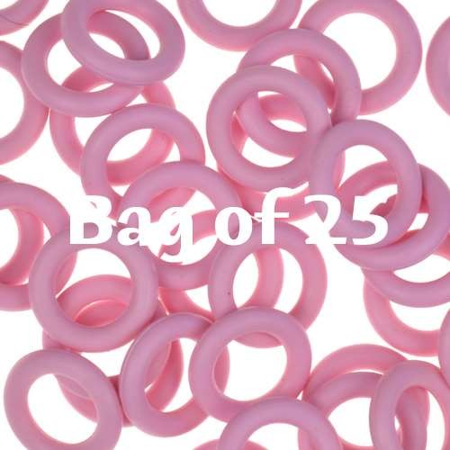 10mm Rubber O-Rings BAG of 25 - Frosting Pink