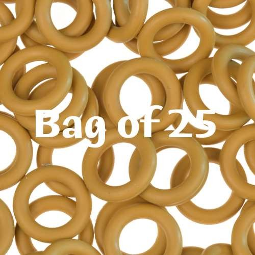 10mm Rubber O-Rings BAG of 25 - Ginger
