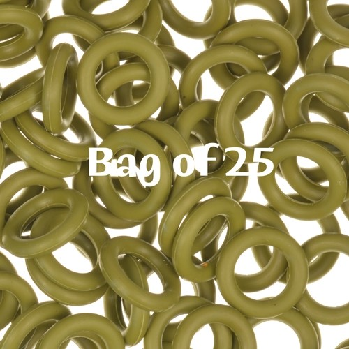 10mm Rubber O-Rings BAG of 25 - Olive