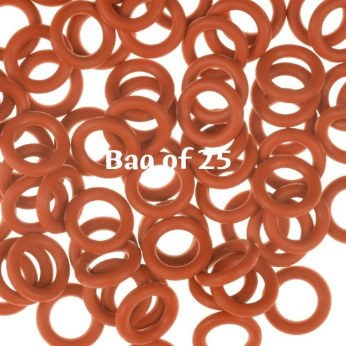 10mm Rubber O-Rings BAG of 25 - Rust