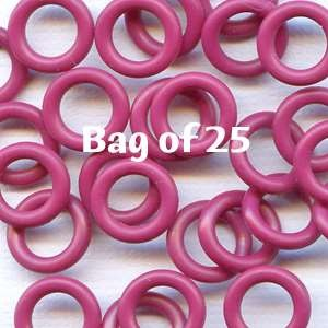 10mm Rubber O-Rings BAG of 25 - Cranberry