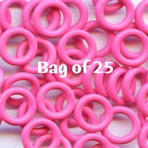 10mm Rubber O-Rings BAG of 25 - Flamingo