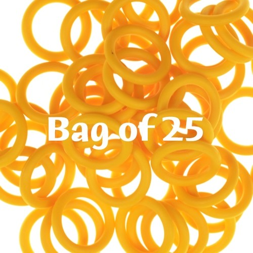 12mm Rubber O-Rings BAG of 25 - Buttercup