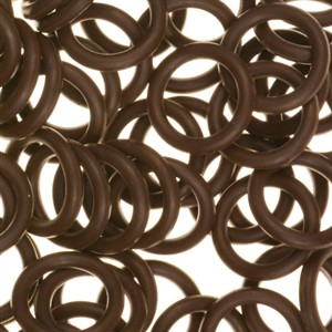 12mm Rubber O-Ring Spacer - Dark Chocolate