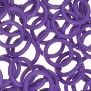 12mm Rubber O-Ring Spacer - Grape