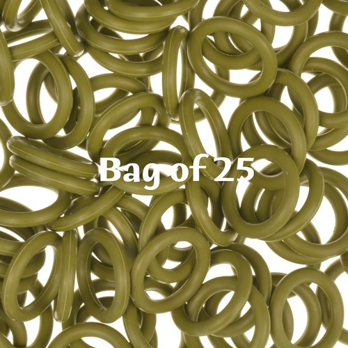 12mm Rubber O-Rings BAG of 25 - Olive