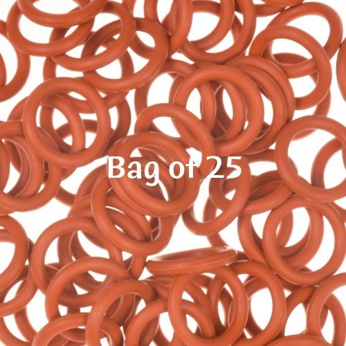 12mm Rubber O-Rings BAG of 25 - Rust