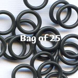 12mm Rubber O-Rings BAG of 25 - Black