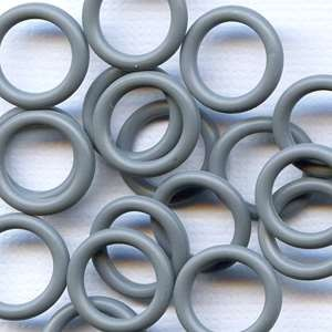 12mm Rubber O-Ring Spacer - Charcoal