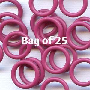 12mm Rubber O-Rings BAG of 25 - Cranberry