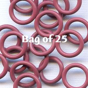 12mm Rubber O-Rings BAG of 25 - Merlot