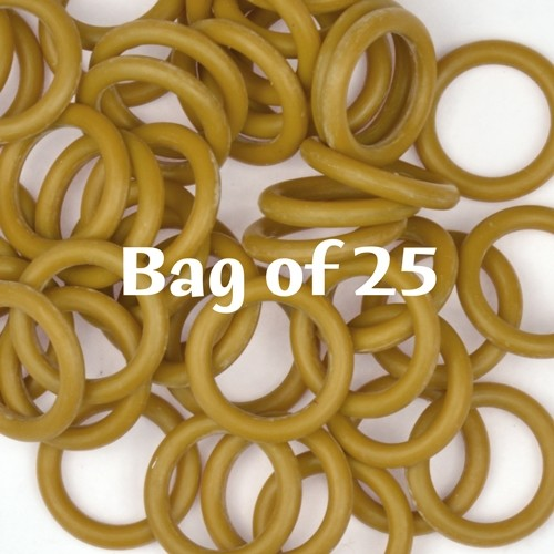 12mm Rubber O-Rings BAG of 25 - Sumac