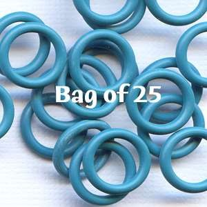 12mm Rubber O-Rings BAG of 25 - Teal