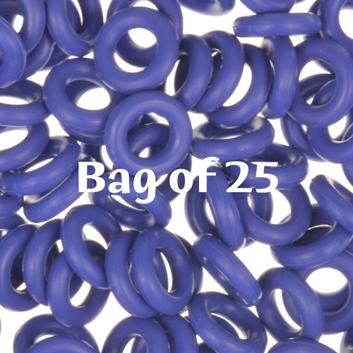 7.25mm Rubber O-Rings BAG of 25 - Blueberry