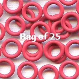 7.25mm Rubber O-Rings BAG of 25 - Cherry Pop