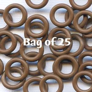 7.25mm Rubber O-Rings BAG of 25 - Chocolate