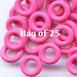 7.25mm Rubber O-Rings BAG of 25 - Flamingo