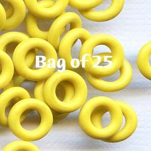 7.25mm Rubber O-Rings BAG of 25 - Lemon