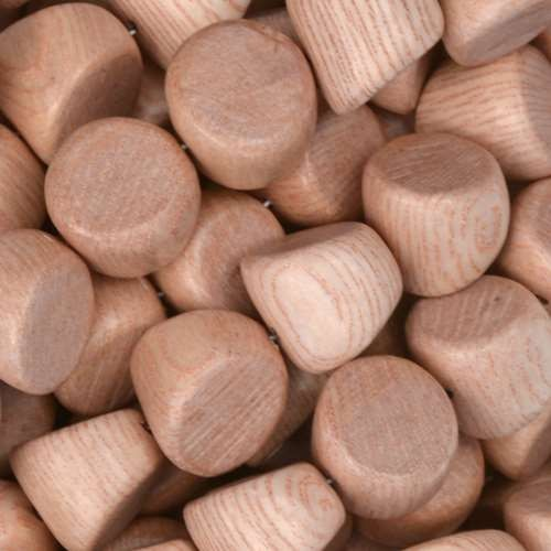 Rosewood Bead Double Side Cut 10mm