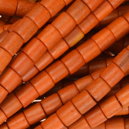 Redwood Bead Tube 6x6mm - strand